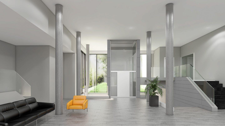 geplanter Eingangsbereich